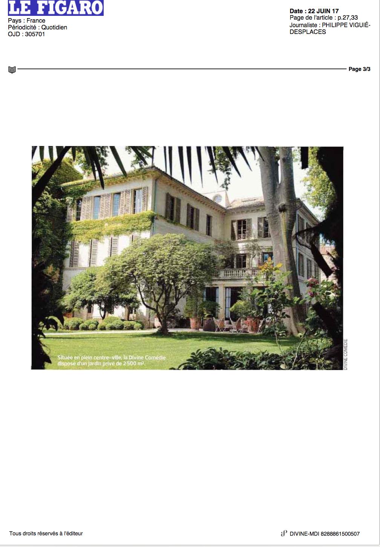 LE FIGARO pour LA DIVINE COMEDIE, Hôtel particulier, Avignon